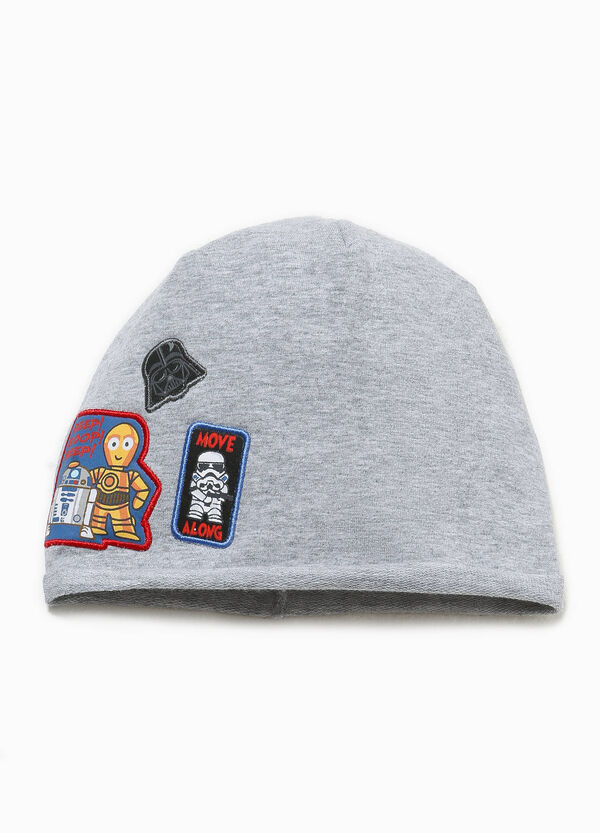 Beanie cap with Star Wars patches