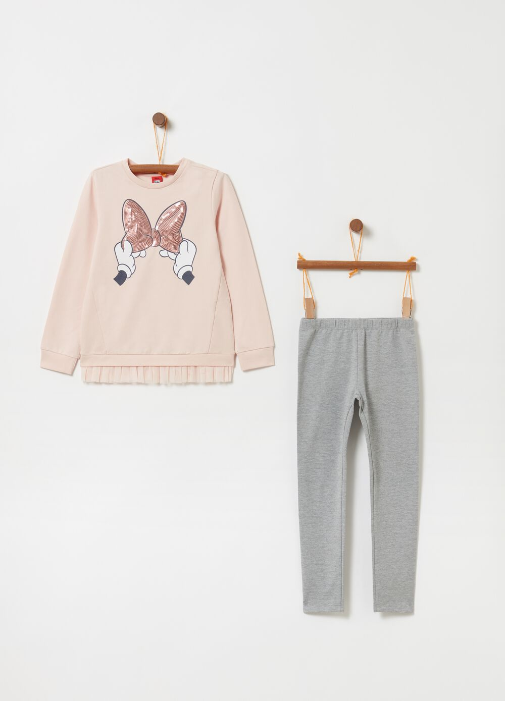 Jogging set with Disney Minnie Mouse print