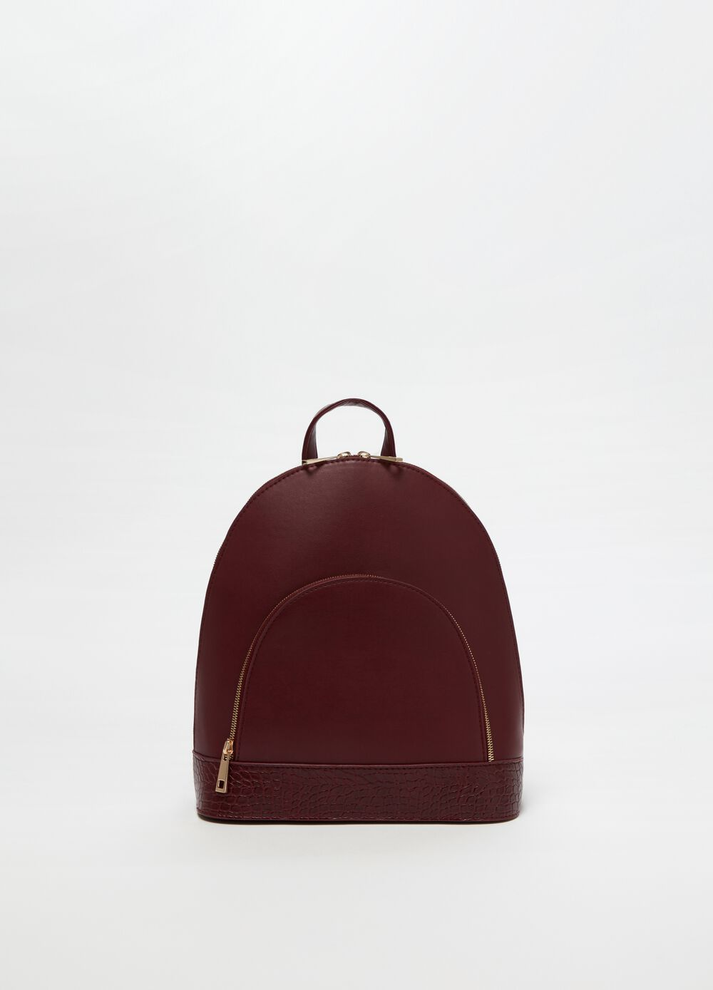 Structured crocodile-effect backpack
