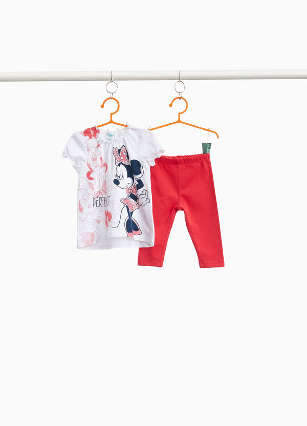 Outfit with maxi Minnie Mouse print