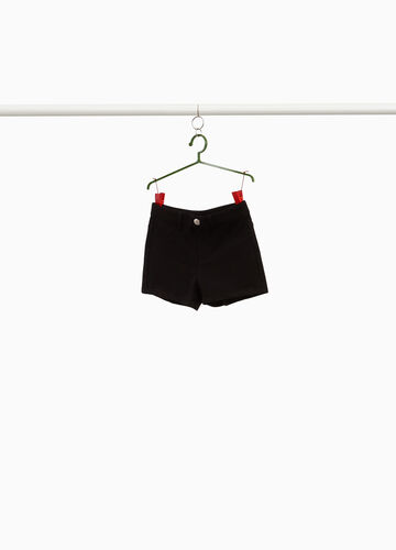 Stretch cotton shorts with pockets