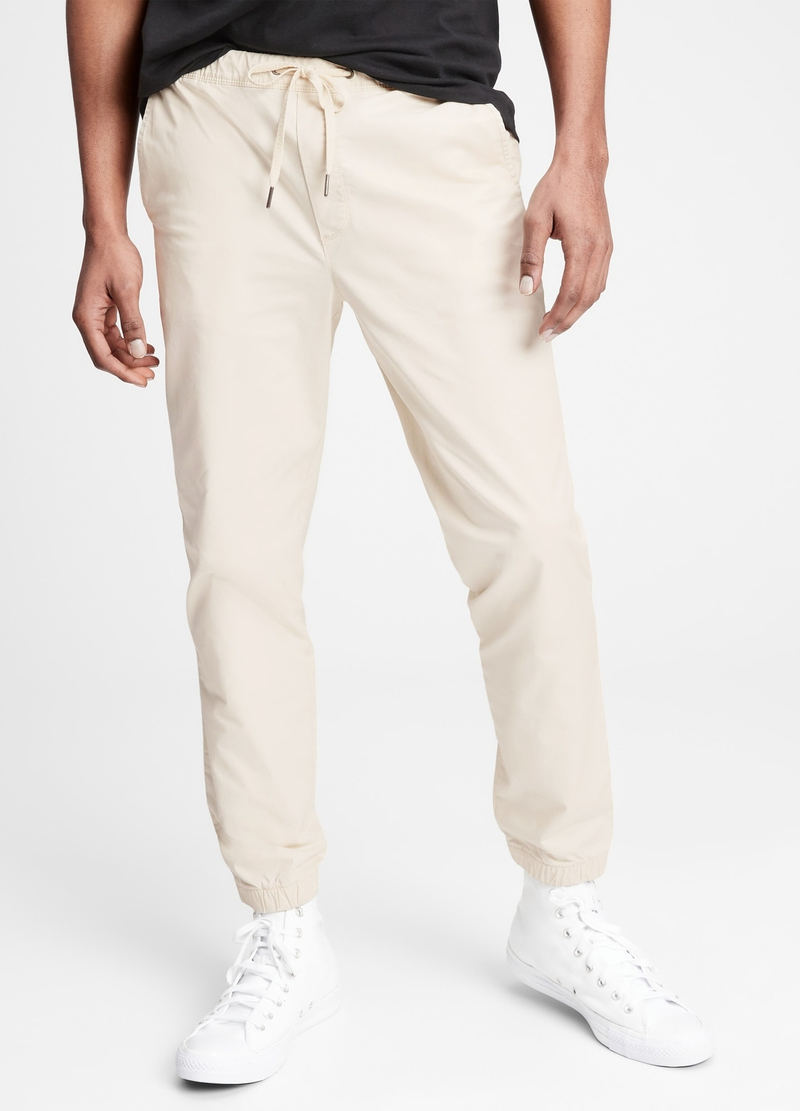 GAP stretch cotton twill joggers image number null