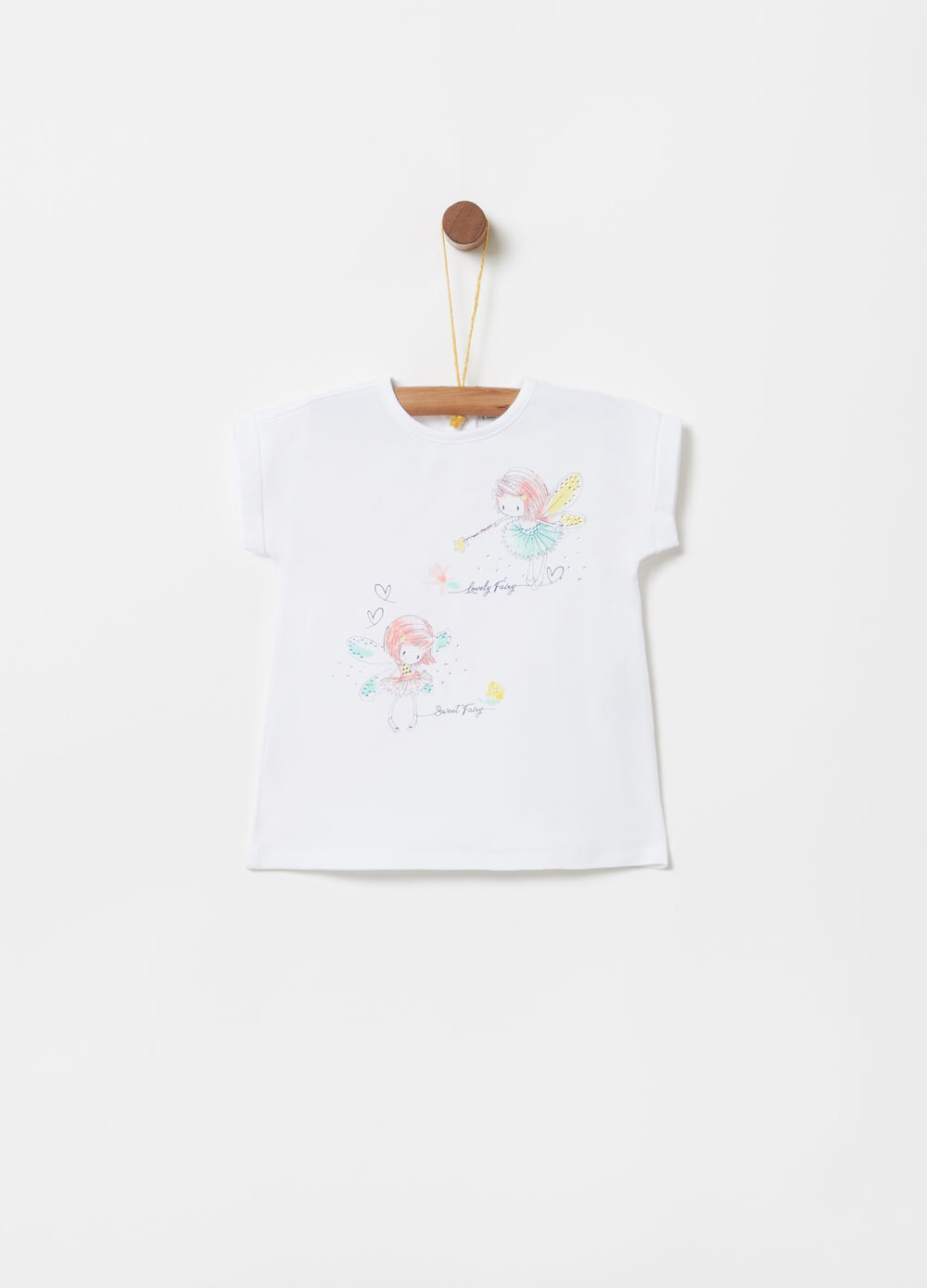 T-shirt with fairy print with diamantés