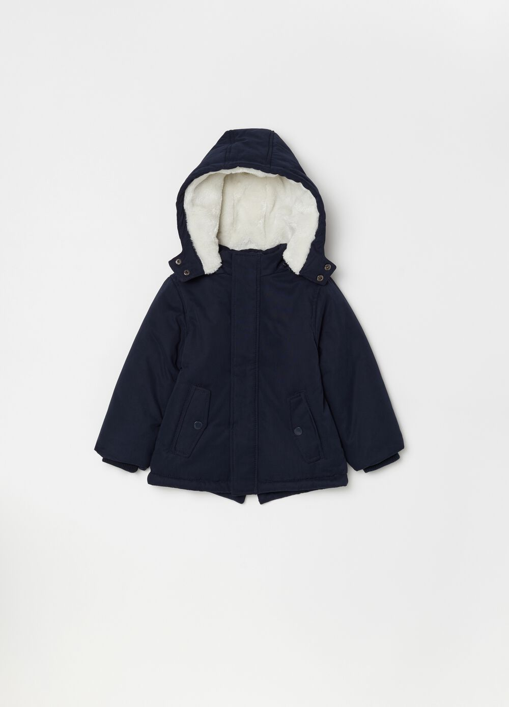 Padded jacket with hood and pockets