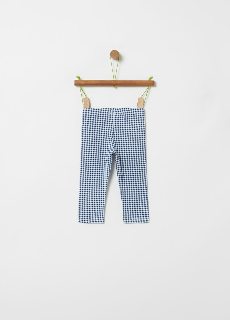 Organic cotton check leggings image number null