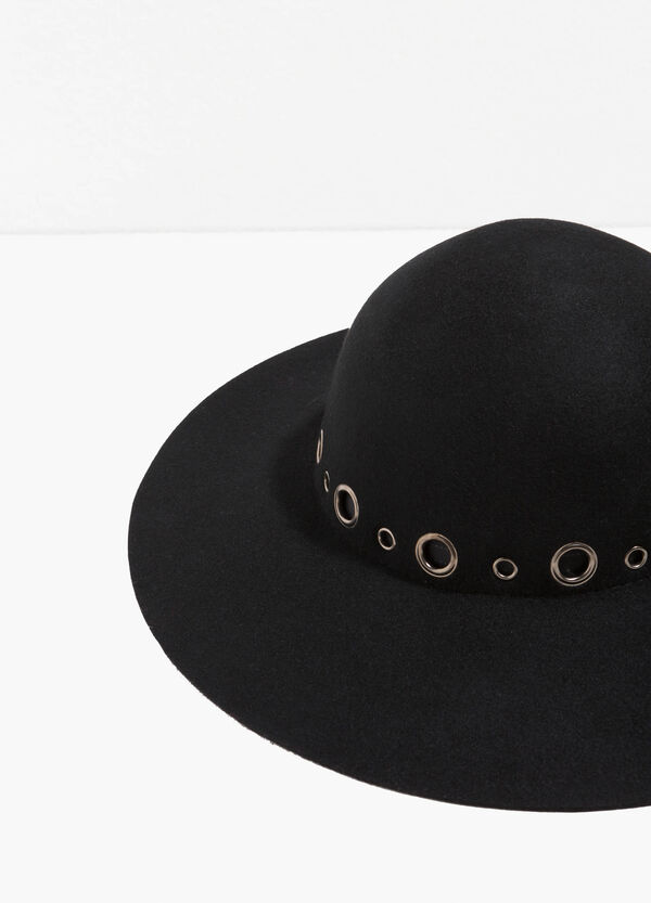 Wide-brimmed hat with eyelets | OVS