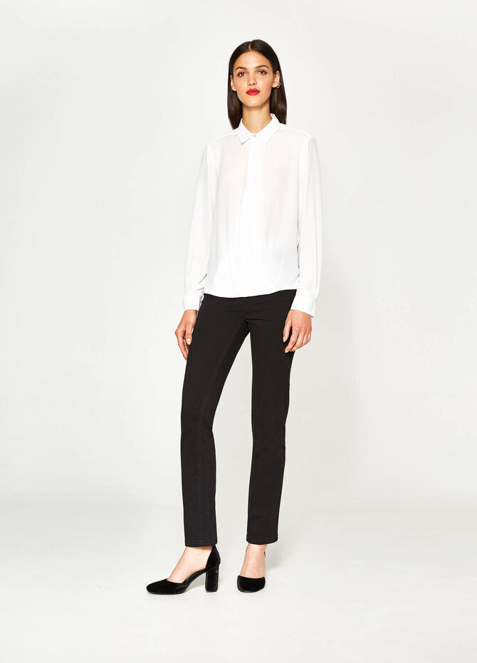 Blouse with cross-over front
