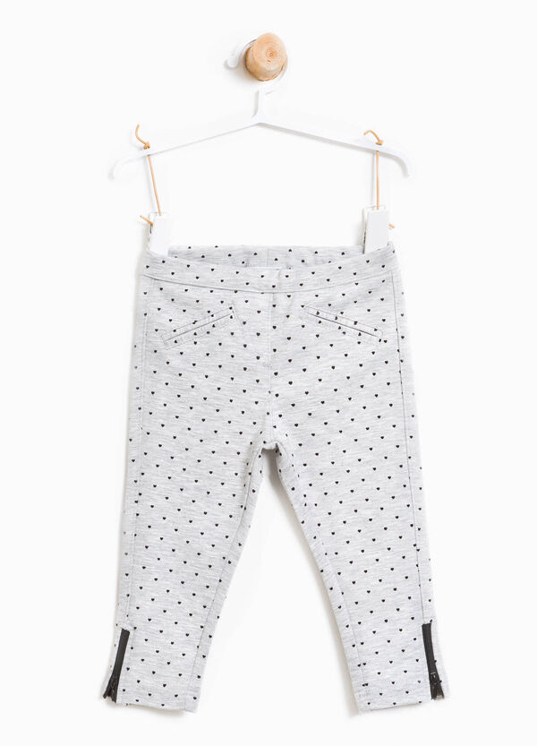Stretch heart print trousers | OVS