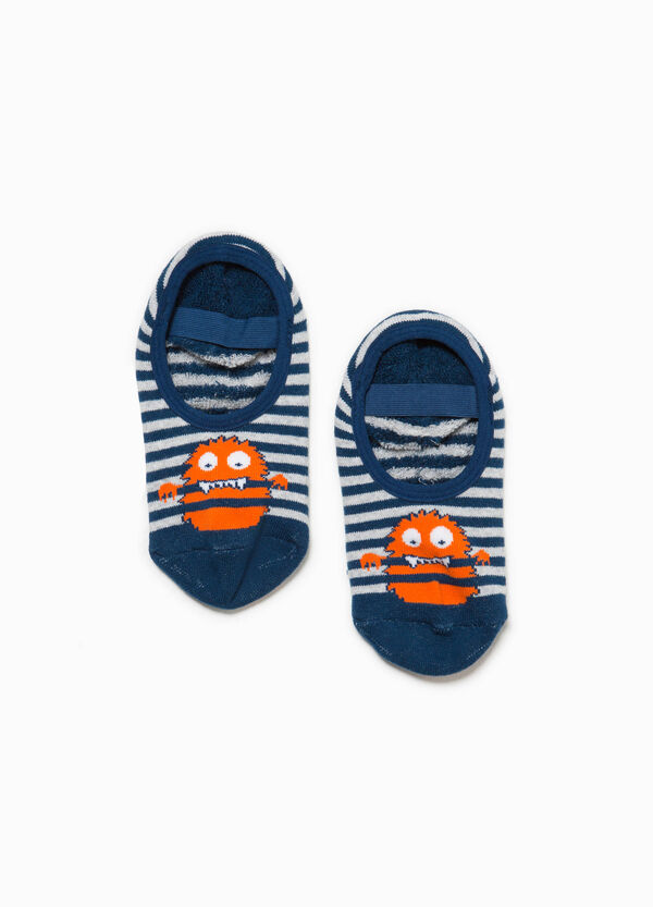 Striped slipper socks with monster embroidery | OVS