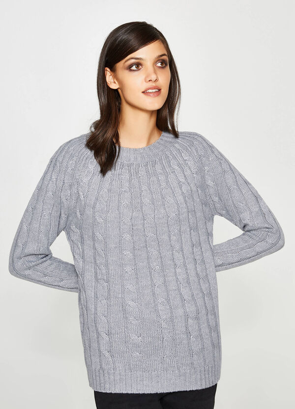 Knitted crew neck pullover | OVS