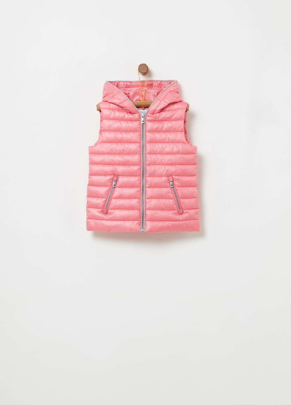 Padded gilet with zip pockets