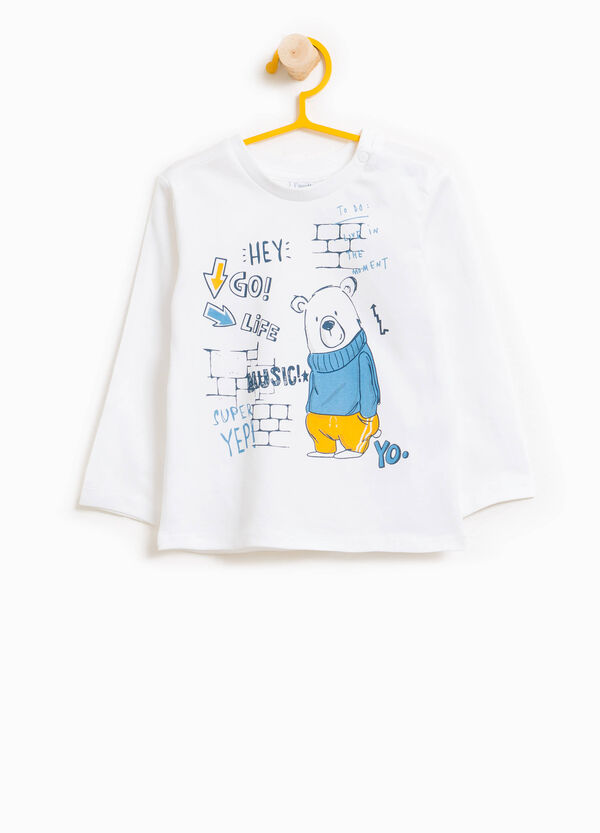 T-shirt in 100% cotton with teddy bear print | OVS