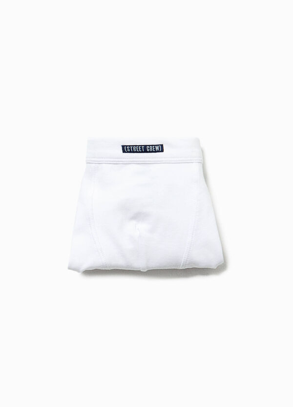 Solid colour organic cotton boxers