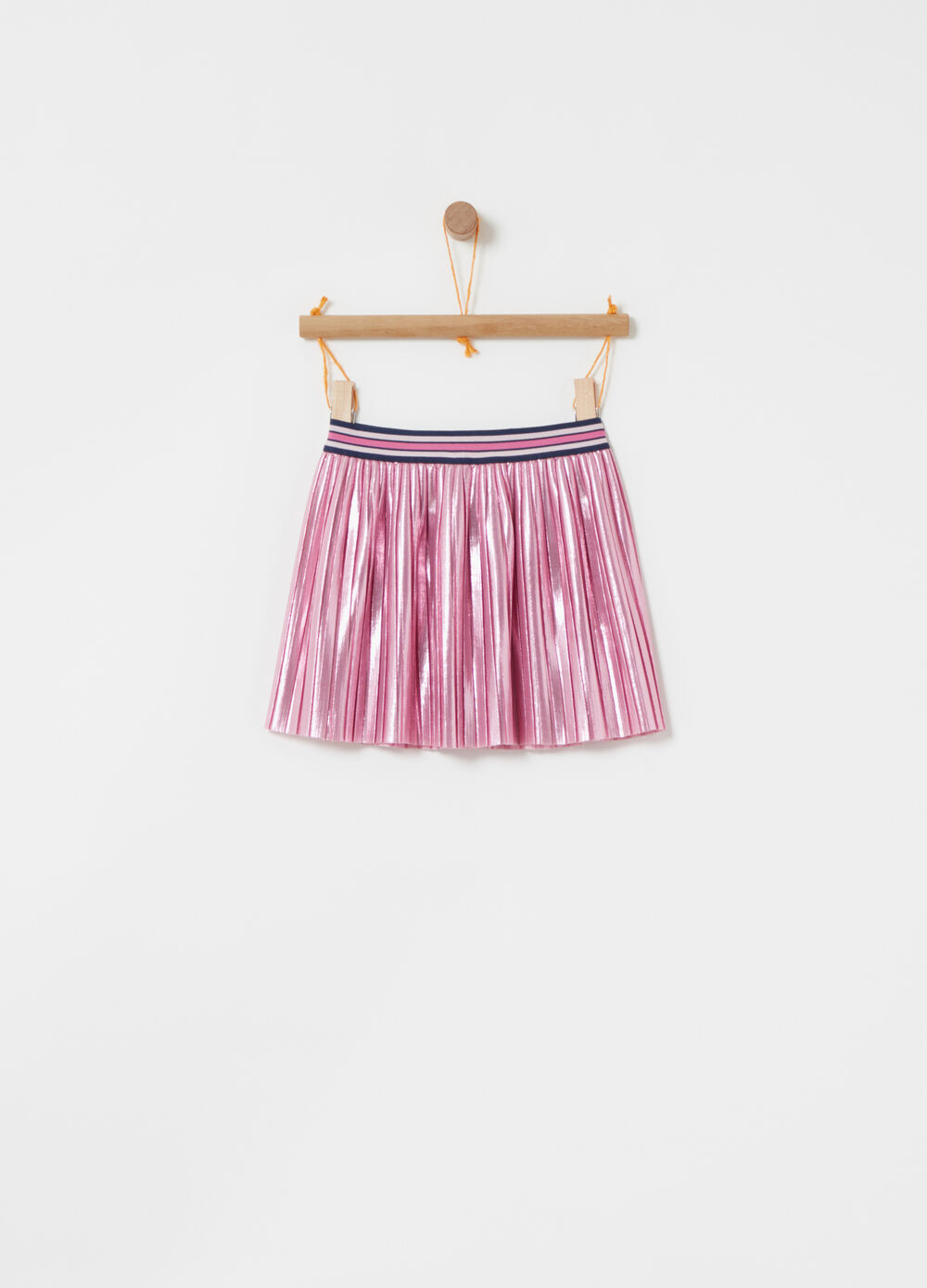 ***Foil pleated skirt with vita lurex