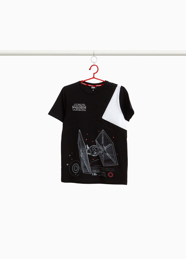 Cotton T-shirt with Star Wars insert