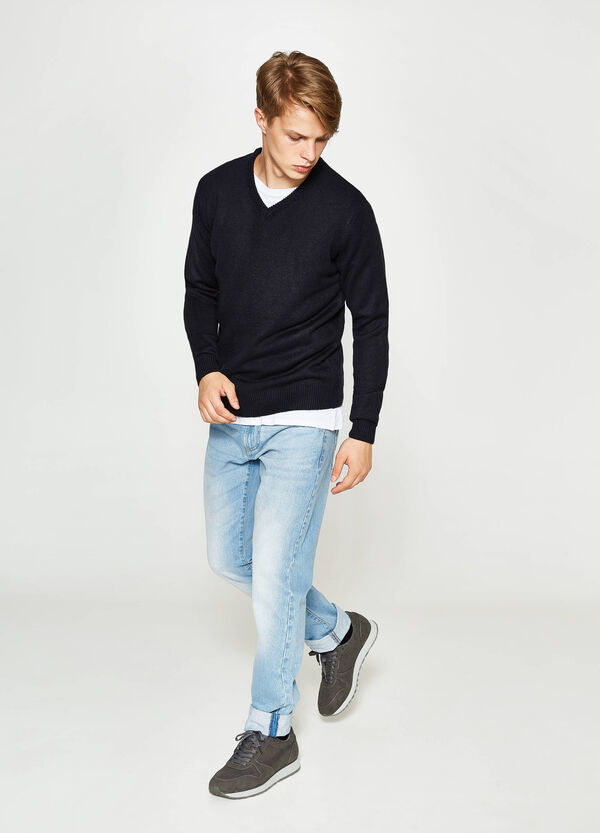 V-neck knit pullover | OVS