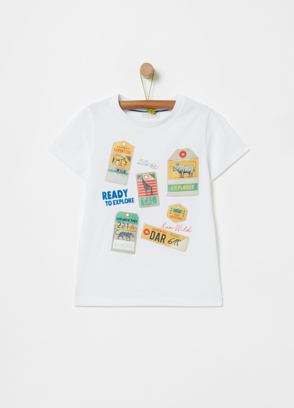 100% organic cotton T-shirt with patch