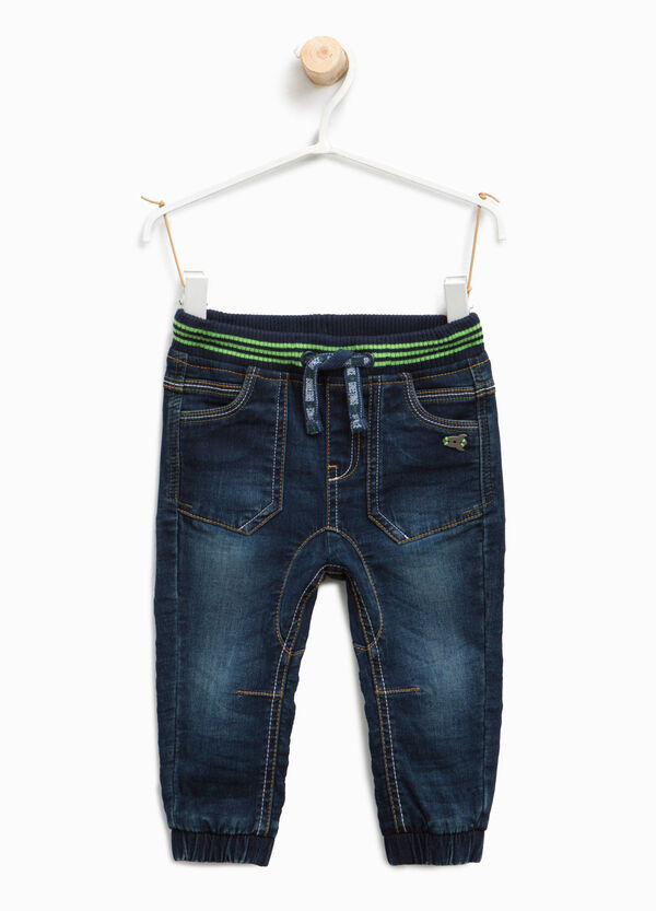 Stretch jeans with elasticated waist