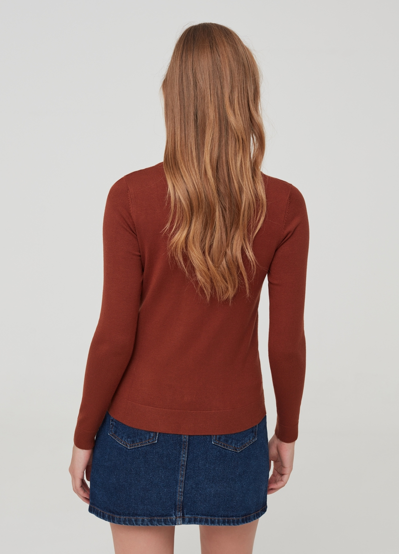 Solid colour viscose blend cardigan image number null