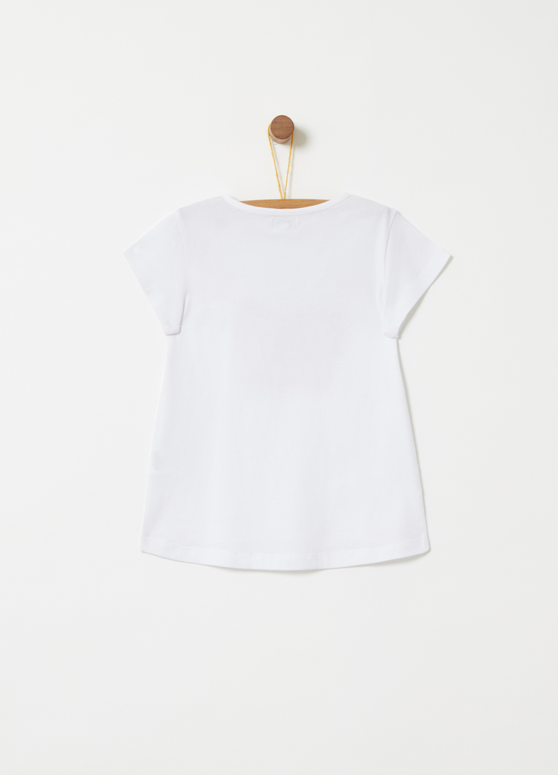 T-shirt with glitter print on the front image number null