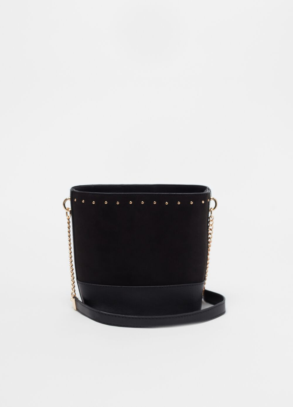 Bucket bag with small studs