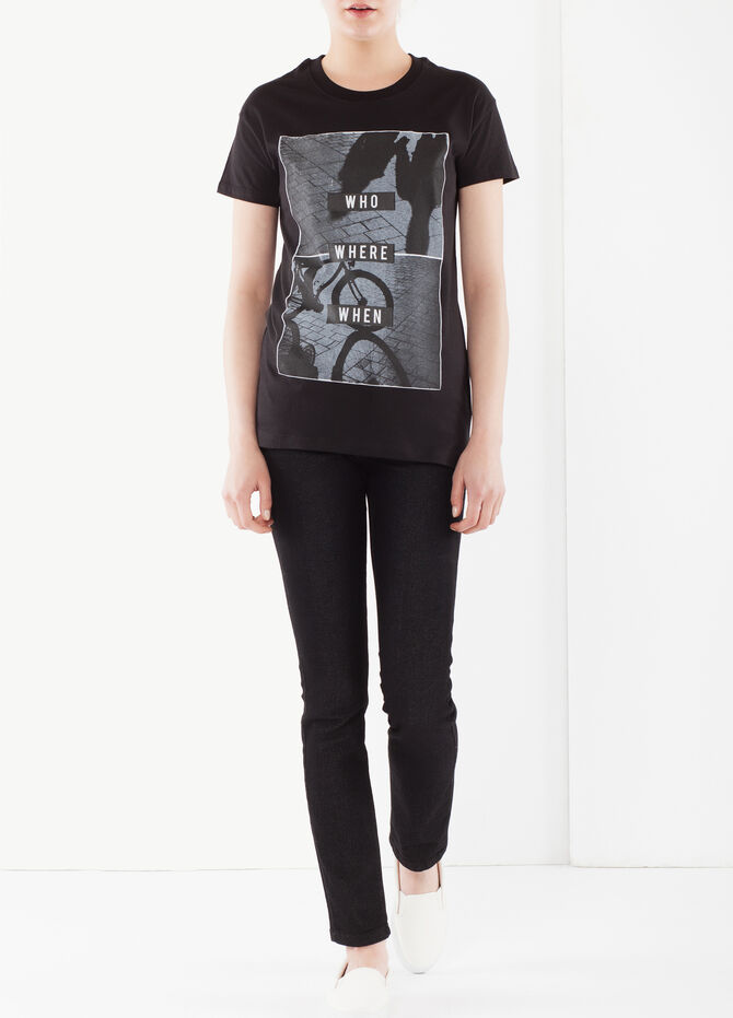 Short-sleeved T-shirt in cotton