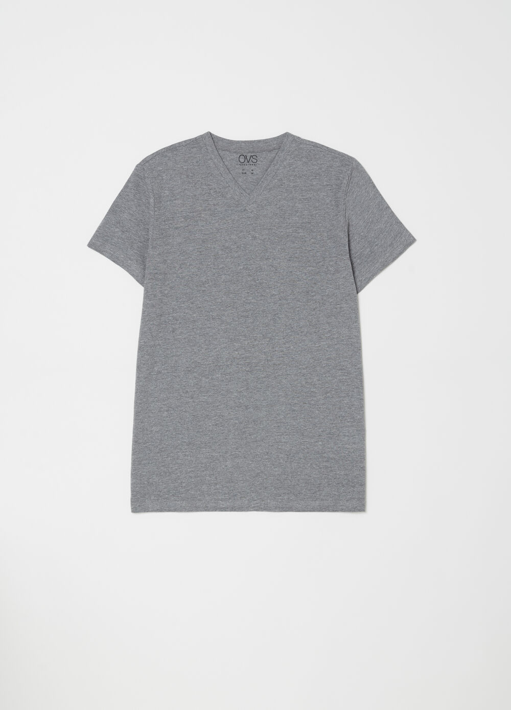Three-pack V-neck mélange T-shirts
