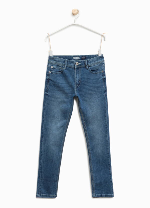 Jeans straight fit stretch effetto used | OVS