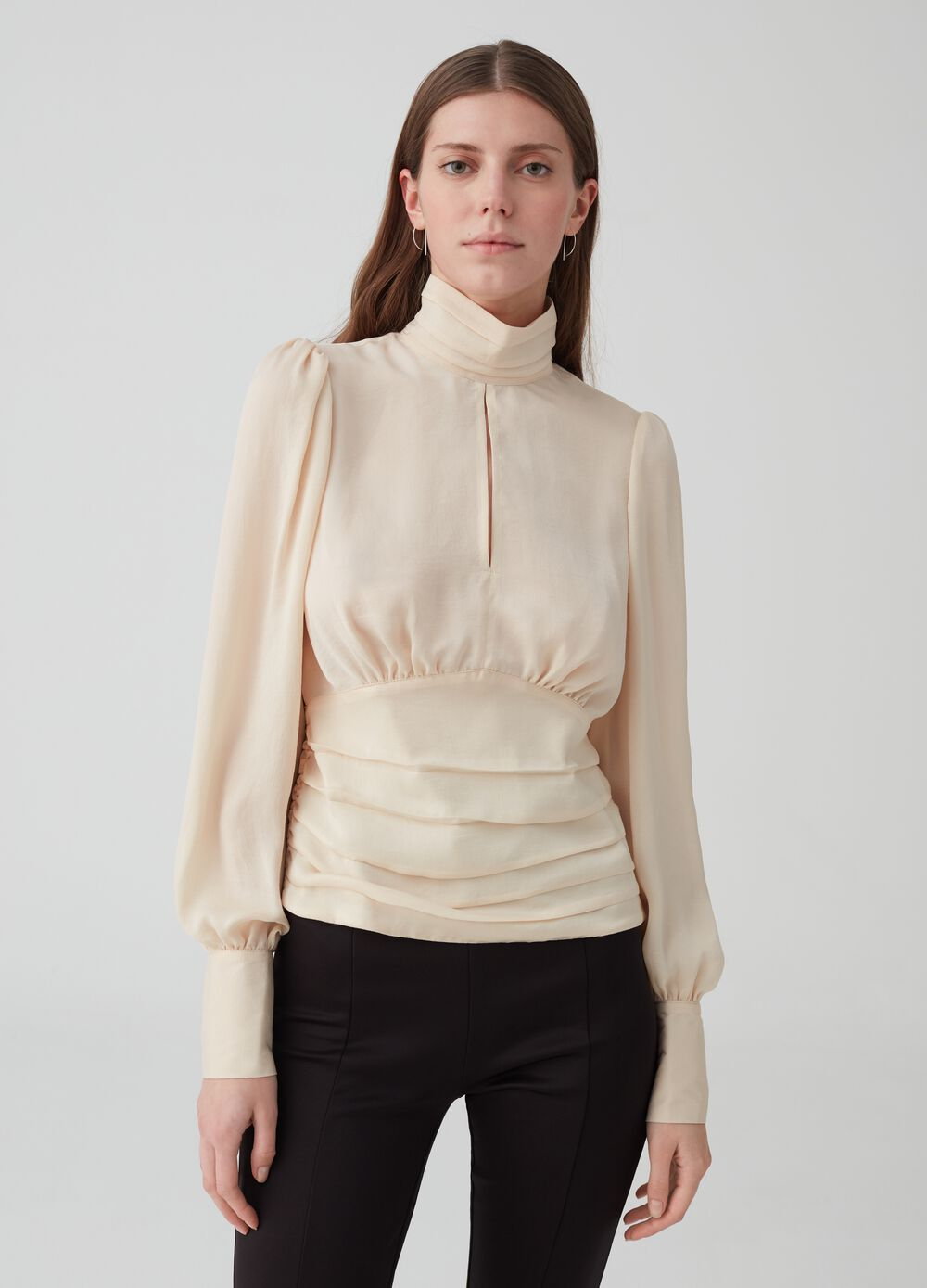 K+K for OVS blouse with high neck