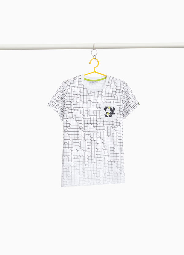 100% cotton T-shirt with degradé print