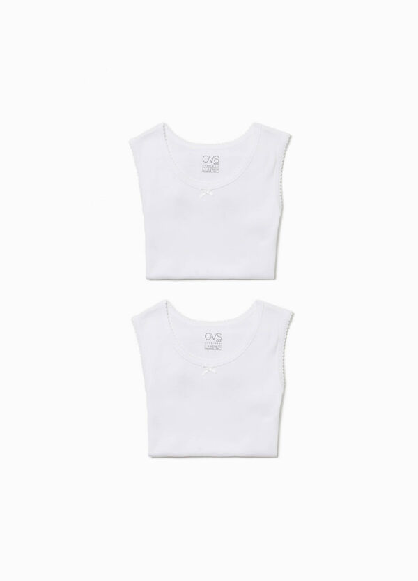 Two-pack under vests with bow