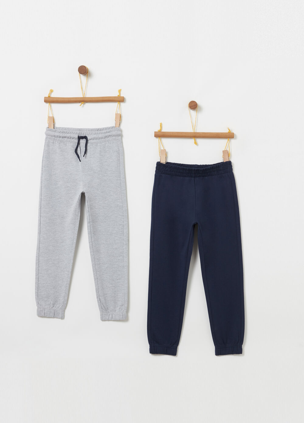Two-pack lightweight fleece trousers