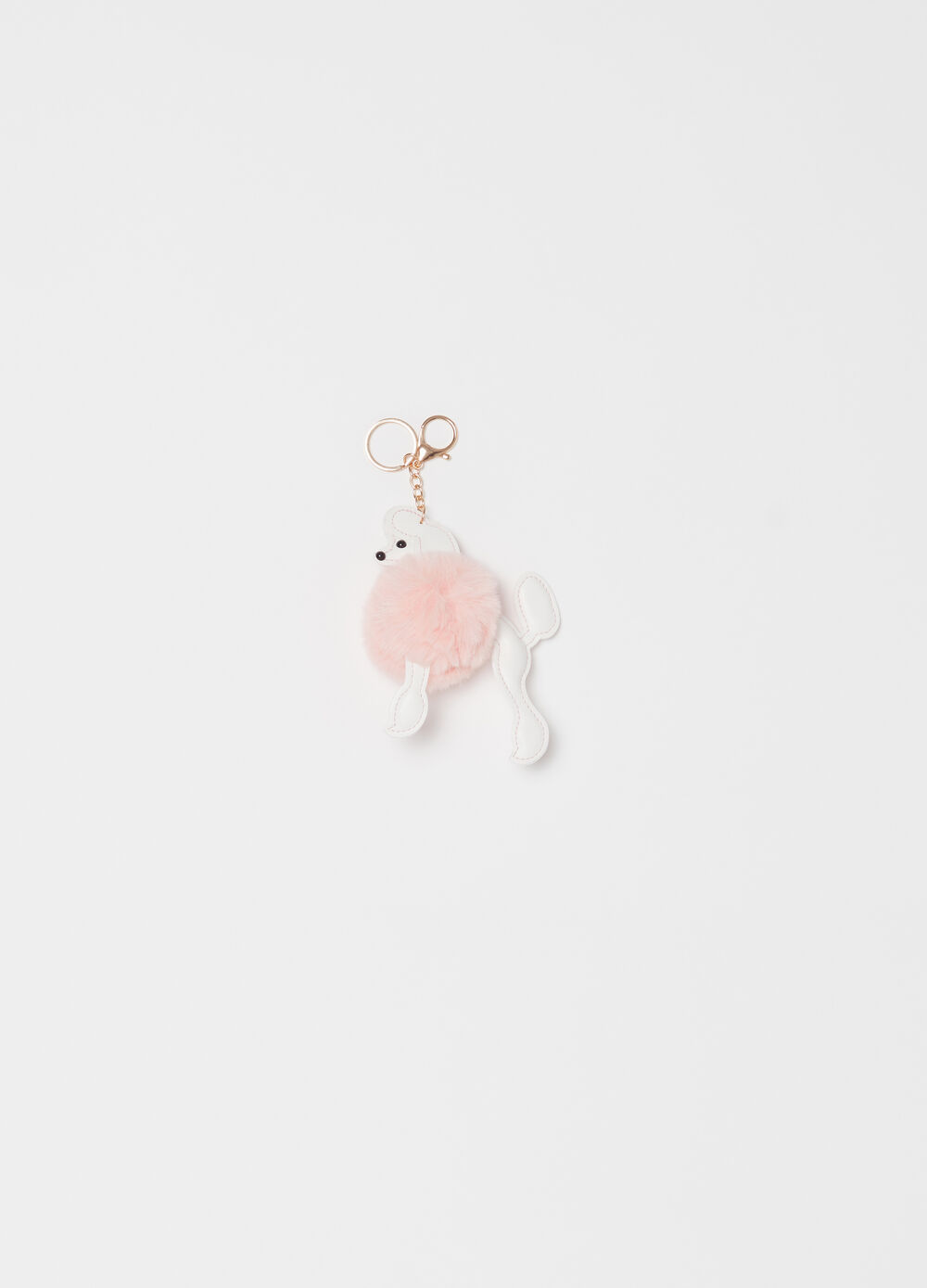 Puppy keyring with pompom