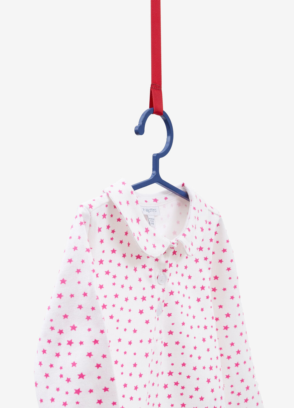 Polo shirt in stretch cotton with star print