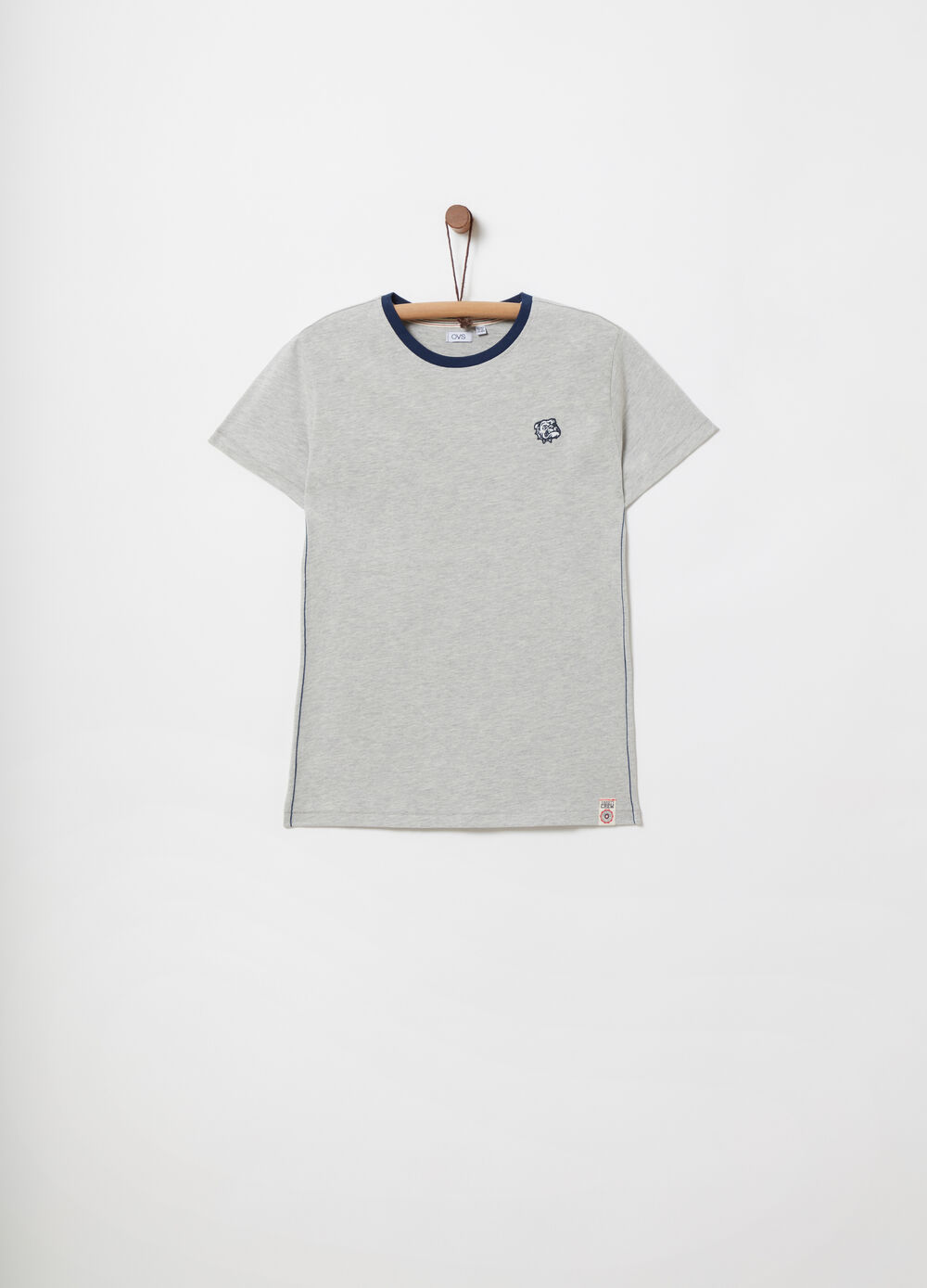 Jersey T-shirt with print and embroidery