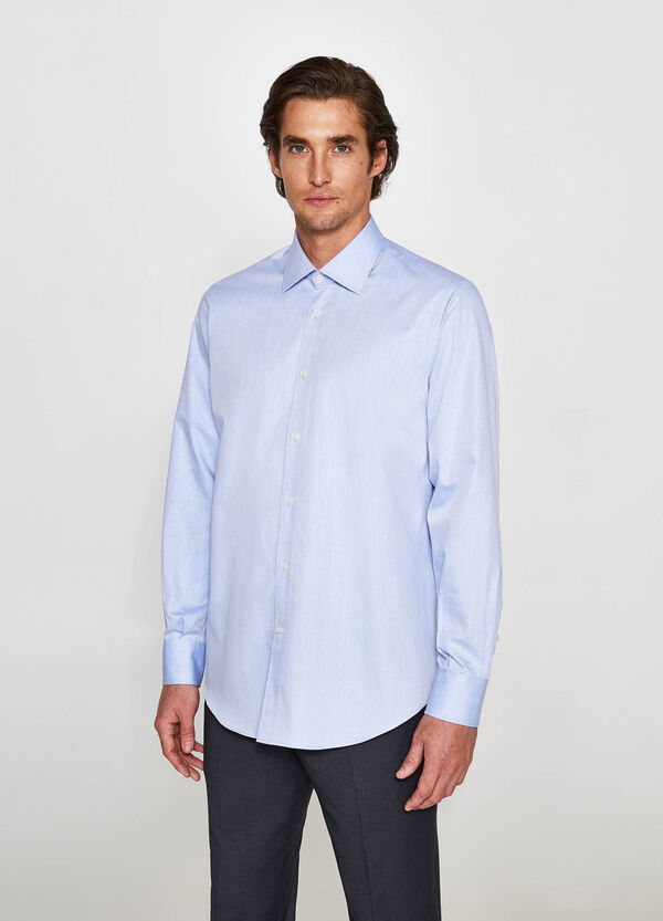 Camicia elegante regular fit puro cotone