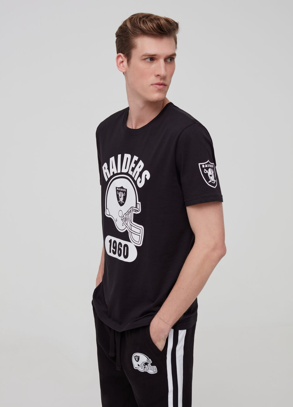 100% cotton T-shirt with Raiders print