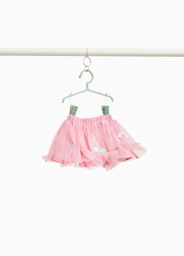 Tulle skirt with patch