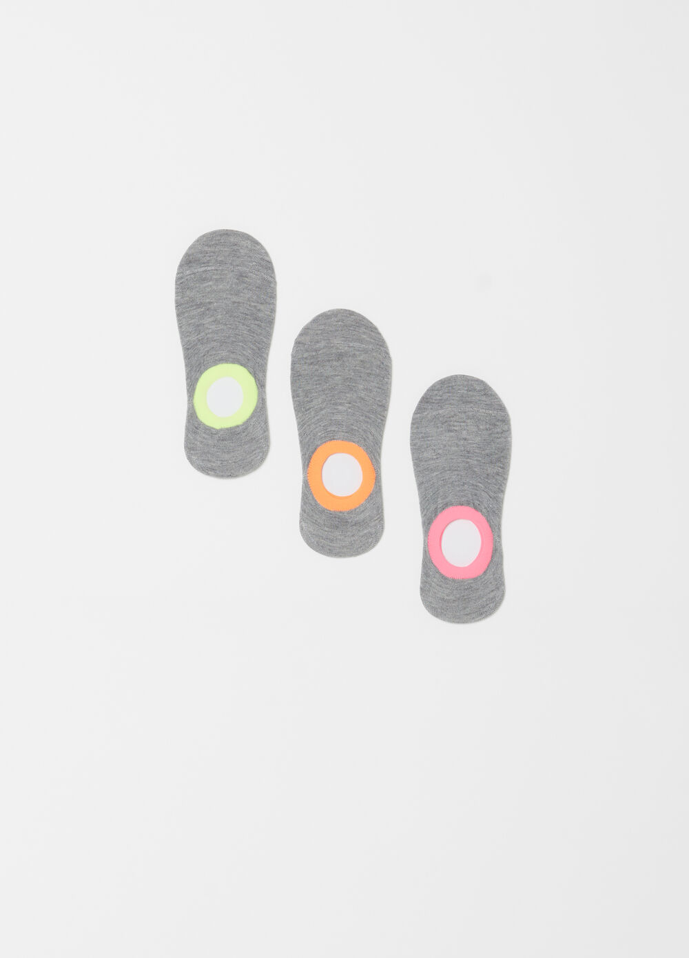 Three-pack stretch pop socks