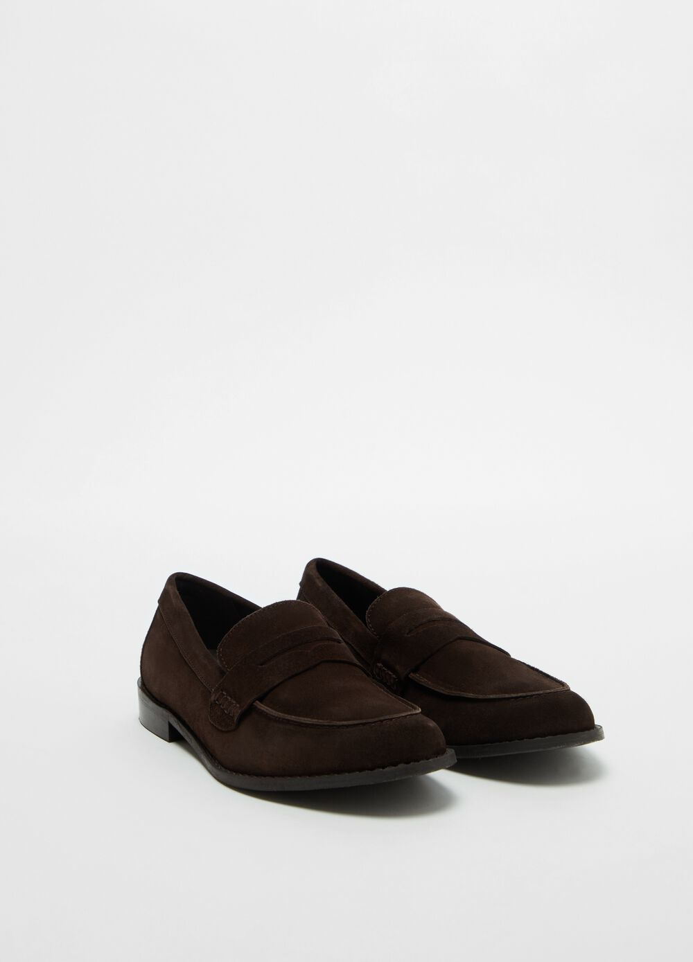 Suede-effect loafers