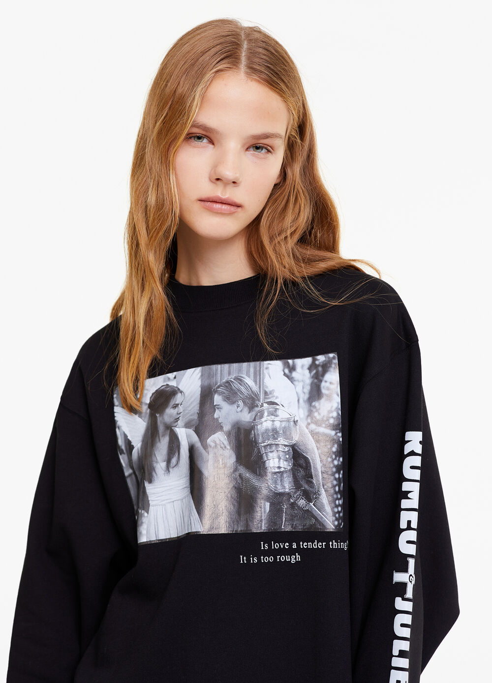 Sweatshirt with Romeo and Juliet print