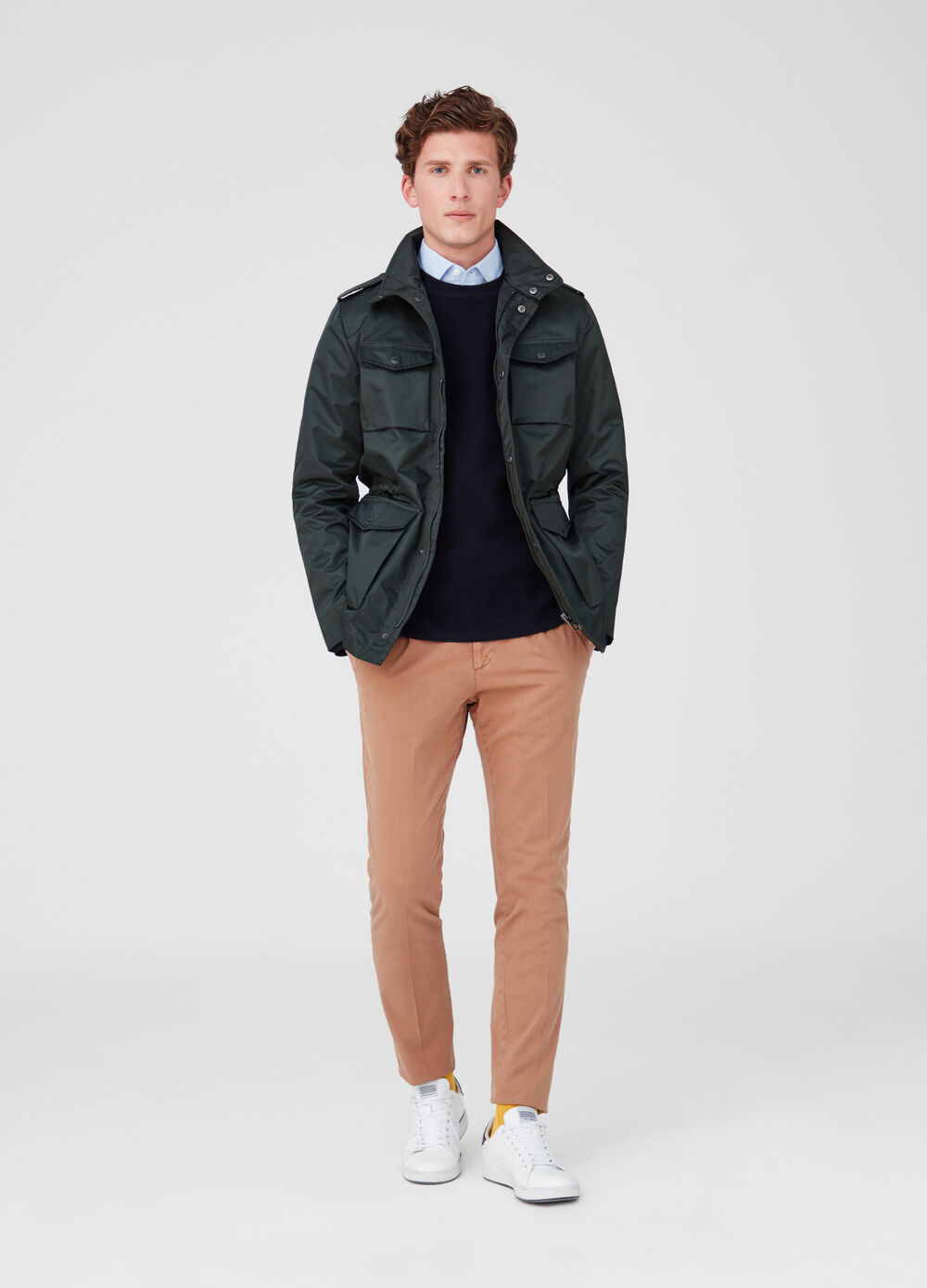 Rumford jacket with elasticated waist and pockets
