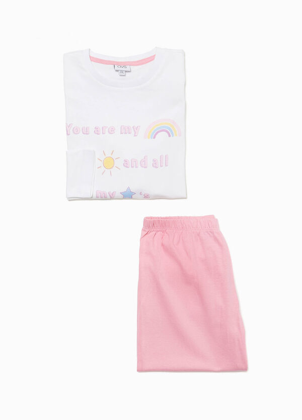 100% cotton pyjamas with printed lettering