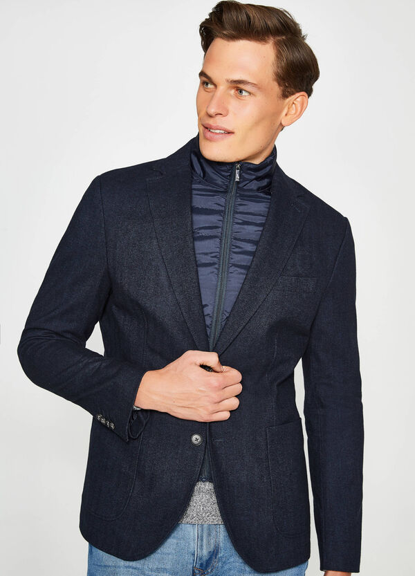 Casual jacket in 100% cotton with single button