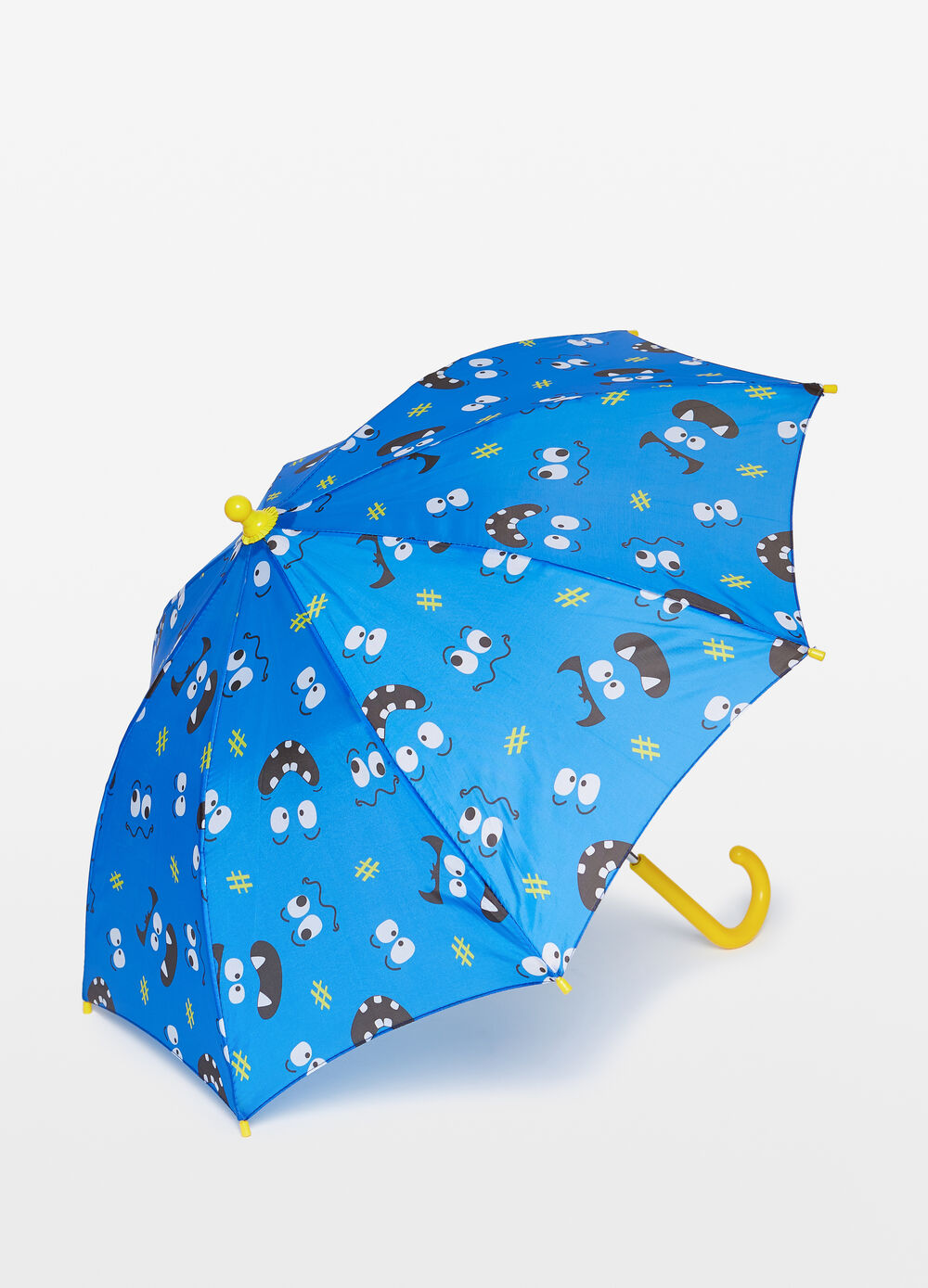 Umbrella with monsters pattern