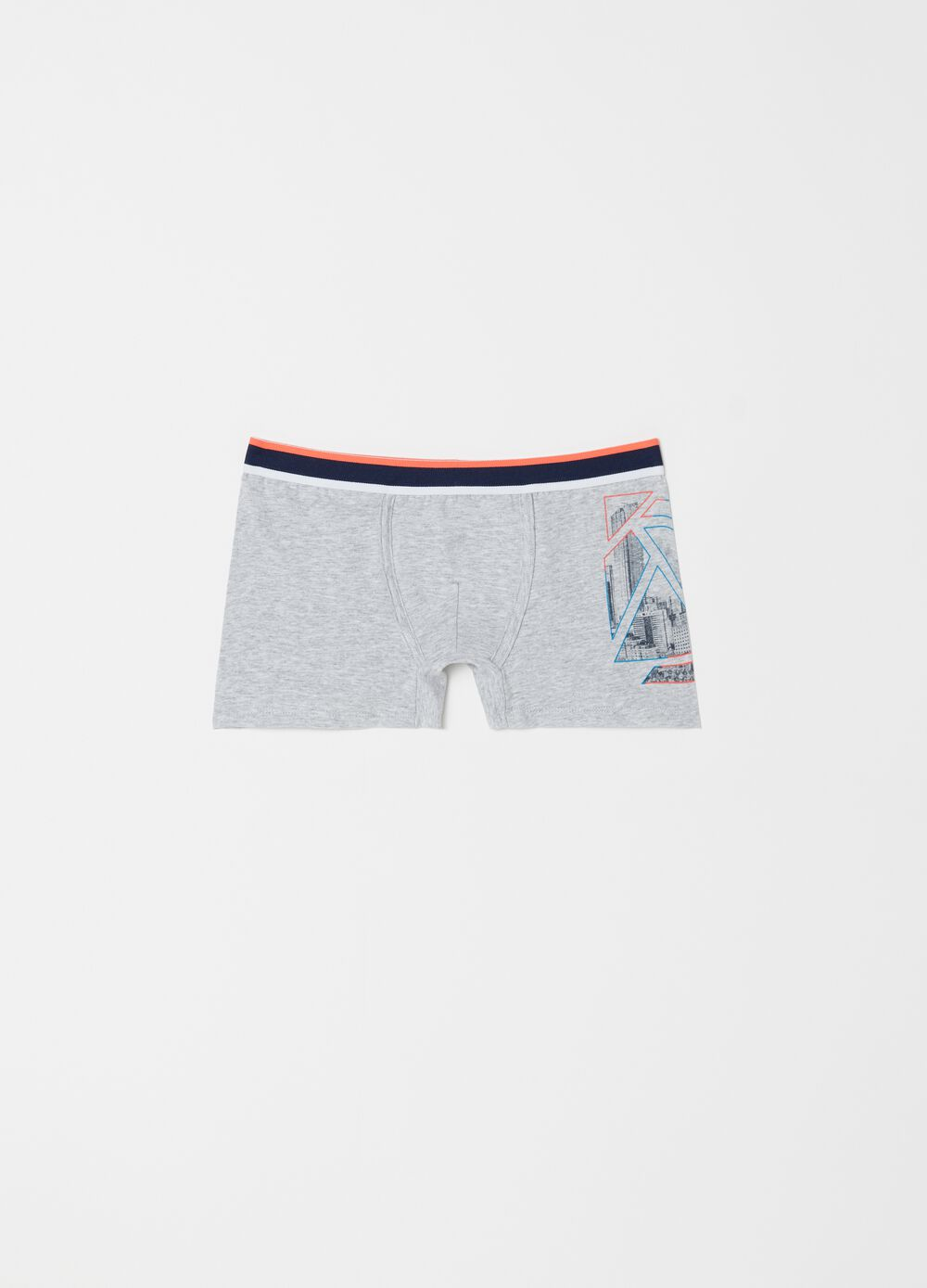 Stretch cotton printed boxers