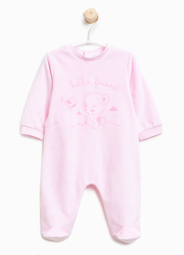 Better Cotton sleepsuit with teddy bear print