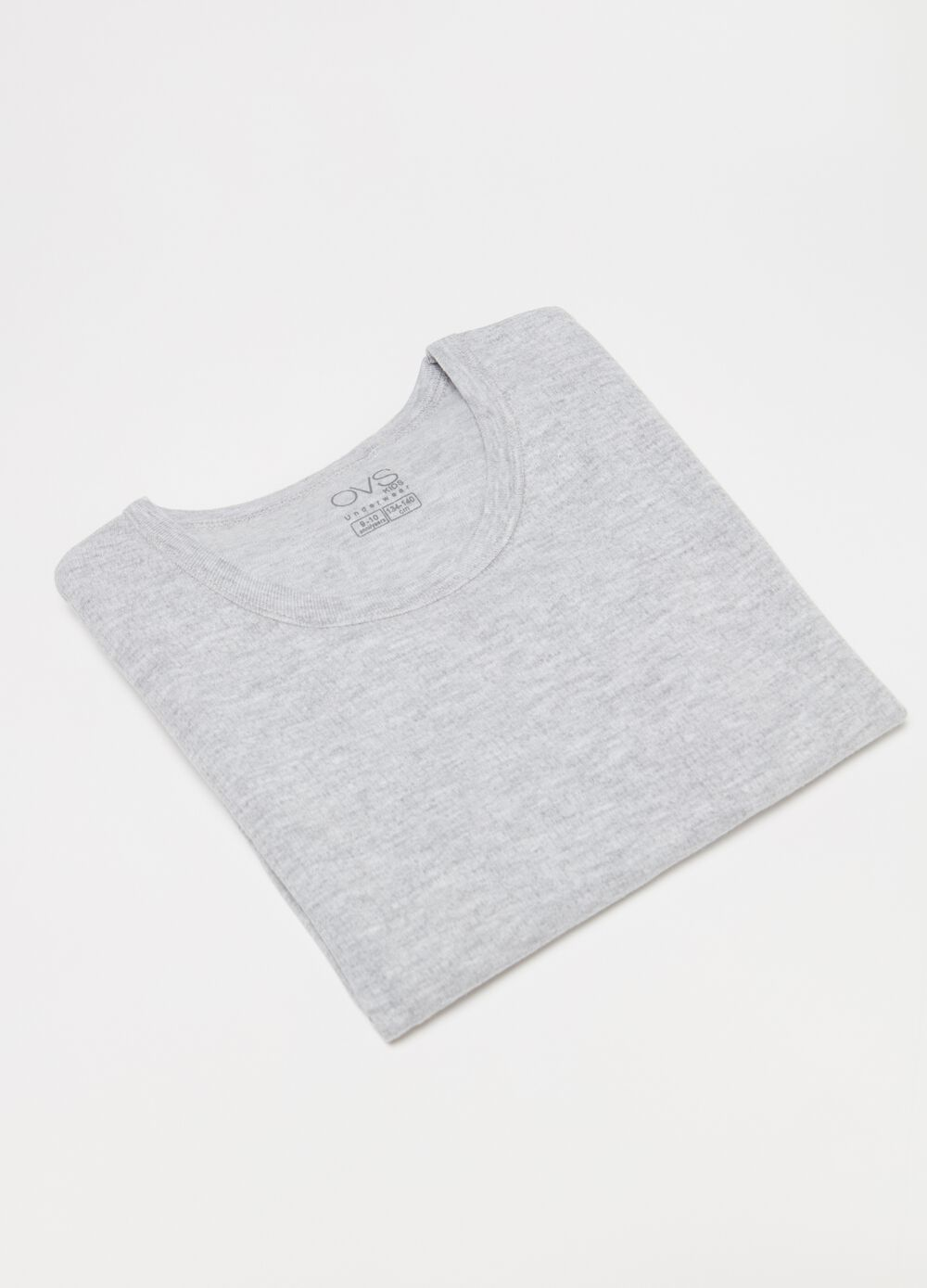 Undershirt in organic cotton and viscose
