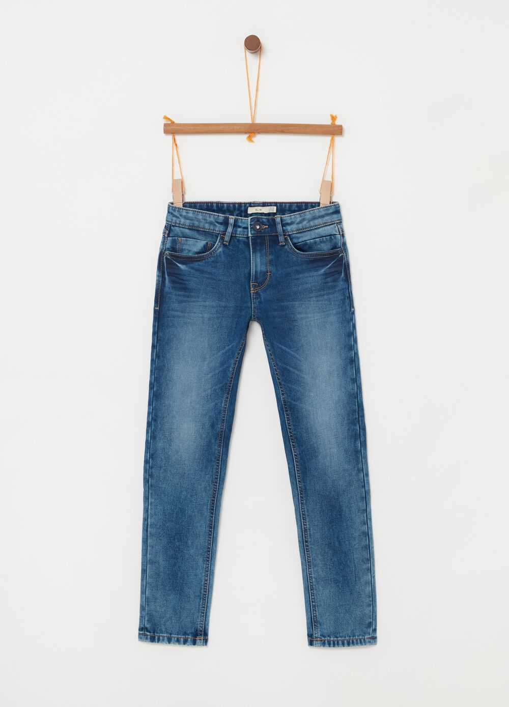 Slim fit stretch jeans with five pockets