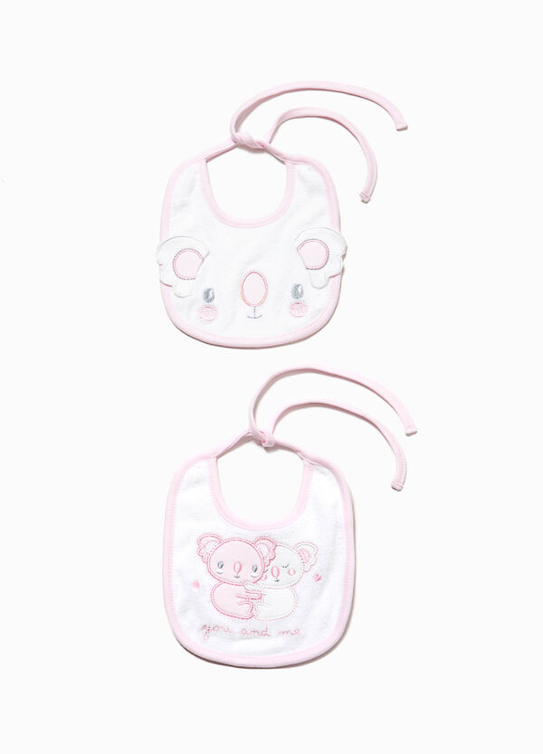 Two-pack bibs with koala patch | OVS